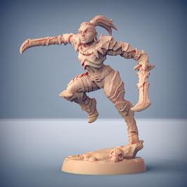 Exilant Kriegerin mit zwei Kurzschwertern