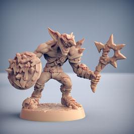 Goblin Krieger mit Axt und Schild