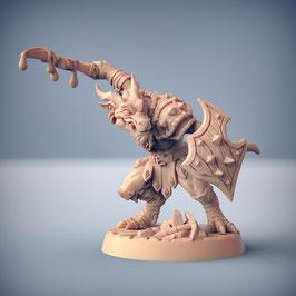 Kobold Krieger mit vergiftetem Schwert und Schild