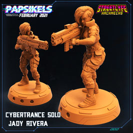 Rivera Cyberpunk-Schützin