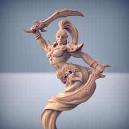 Alriyah weiblicher Dschinn mit zwei Kurzschwertern