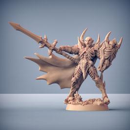 Drakenmir Vampir Lord mit Kampfspeer und Schild