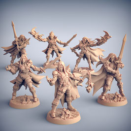Vampir Kämpfer Set - 6 Modelle