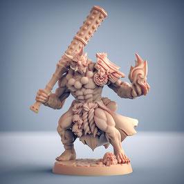 Oni Krieger mit schwerer Keule und Flammenzauber