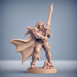 Vampir Kämpferin mit Zweihandschwert