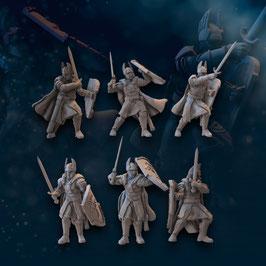 Numenorer Kriegerschar mit Schwertern, Speeren und Bögen