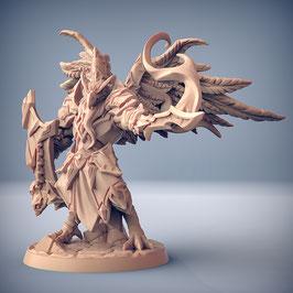 Malor Greifenmensch Held mit magischem Schwert und Schild