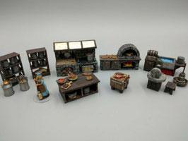 Mittelalterliche Küche - komplettes Set
