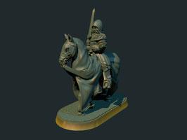 Brite Minis Ritter zu Pferde