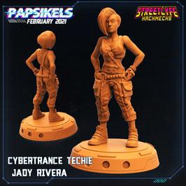 Rivera Cyberpunk-Technikerin