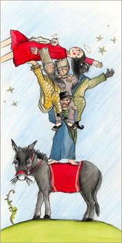 Klappkarte: Weihnachtspyramide