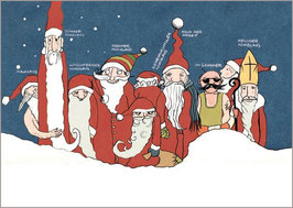 Fineart Print: Weihnachtsmänner