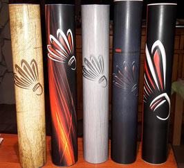 Tube (vide) décoré volant plume