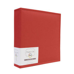 Becky Higgins / American Crafts - Project Life - Faux Leather Album 6x8 { Cherry } 15.2x20.3cm