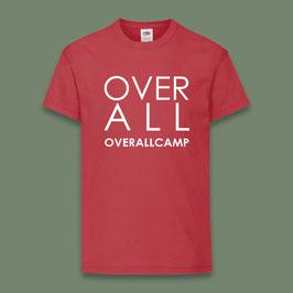 Camiseta roja acampados OverallCamp