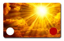 Cosmic-Card gold und blau, zusammen mit einer halbstündigen Skypesitzung