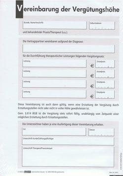 Vereinbarung der Vergütungshöhe; selbstdurchschreibend, 2-fach, DIN A5, 100 Satz