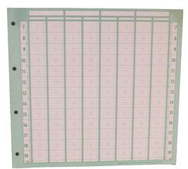 Planungseinlagen, 8 Spalten/ Seite, quadratisch; 100St.