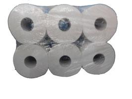 Toilettenpapier Gigant, 2-lagig, weiß, Länge: 150m, perforiert, Rollendurchmesser 20cm, Hülsendurchmesser 6cm; 12 Rollen / Paket