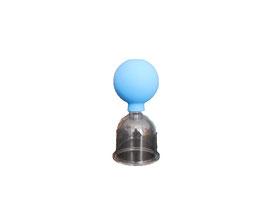 Schröpfglas aus Kunststoff mit Saugball