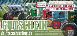 """NEU: 4-Schlösser-Tour Ticket """"Trecker-Diplom"""" Erlebnisgutschein - Oldtimer-Trecker zum Selbstfahren mit Schön-Wetter-Garantie"""