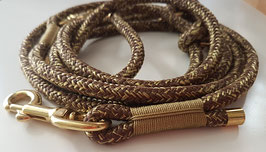 """Leash """"Rusty Gold"""" adjustable - with end caps"""