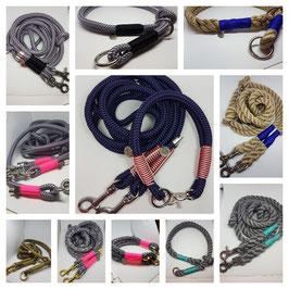 Eigenkreation - Set Halsband 3-fach + Leine