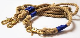 Set Spun Cord Beige II - Leine 3-fach verstellbar & Halsband wählbar
