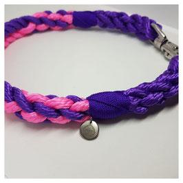 """Halsband Classic """"Pink-Purple"""" 2-fach gelegt"""