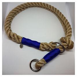 """Zugstopphalsband """"Reep-Beige IIII"""" 2-fach gelegt mit Knoten"""