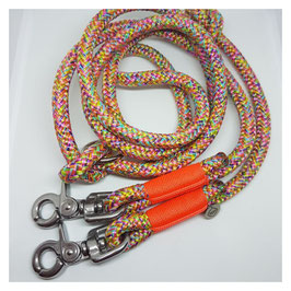 """Leash """"Flower Power III"""" adjustable - with /without end caps"""