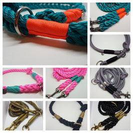 Create your own - Set slip collar two-ply with knot + leash