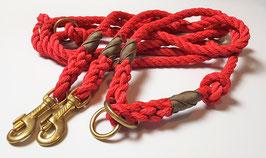 Set Rot I - Leine 3-fach verstellbar & wählbares Halsband