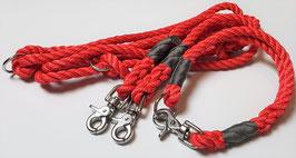 Set Rot II - Leine 3-fach verstellbar & wählbares Halsband
