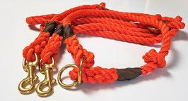Set Orange - Leine 3-fach verstellbar & wählbares Halsband