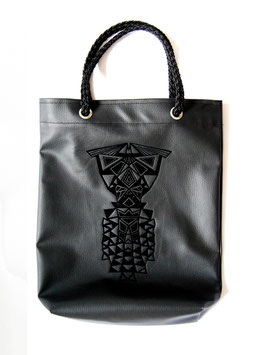 Shopping Bag black velvet