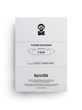 Bayrisch Wilder Geschenkgutschein