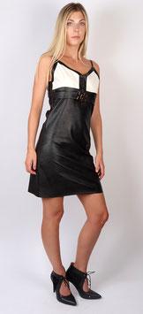 Trägerkleid, schwarz-weiß