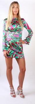 Farbenfrohes Kleid aus reiner Seide