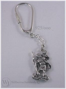 Heiliger Christophorus Schlüsselanhänger Silber 925