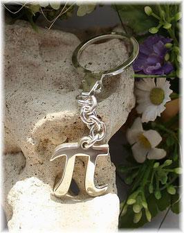 PI - mathematisches Zeichen Schlüsselanhänger 925  Silber
