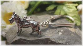 Schäferhund Schlüsselanhänger Silber 925