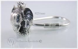 Elefant Schlüsselanhänger Sterling-Silber 925