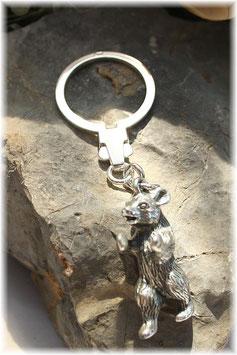 Berliner Bär Schlüsselanhänger Silber 925