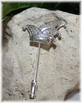 Narrenkappe Anstecknadel Silber 925