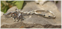 Fuchs Schlüsselanhänger Sterling-Silber 925