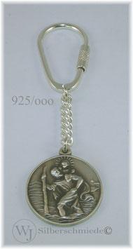 Christophorus Schlüsselanhänger Silber 925