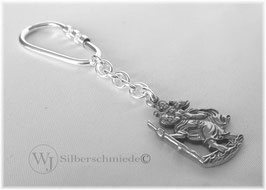 Christophorus Schlüssel-Anhänger Silber 925