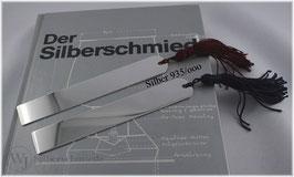 Lesezeichen / Buchzeichen  groß, Silber 935