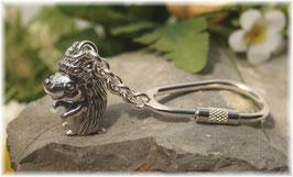 Igel Schlüsselanhänger Sterling-Silber 925